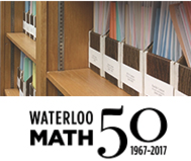 CEMC archive image/Waterloo 50th Math